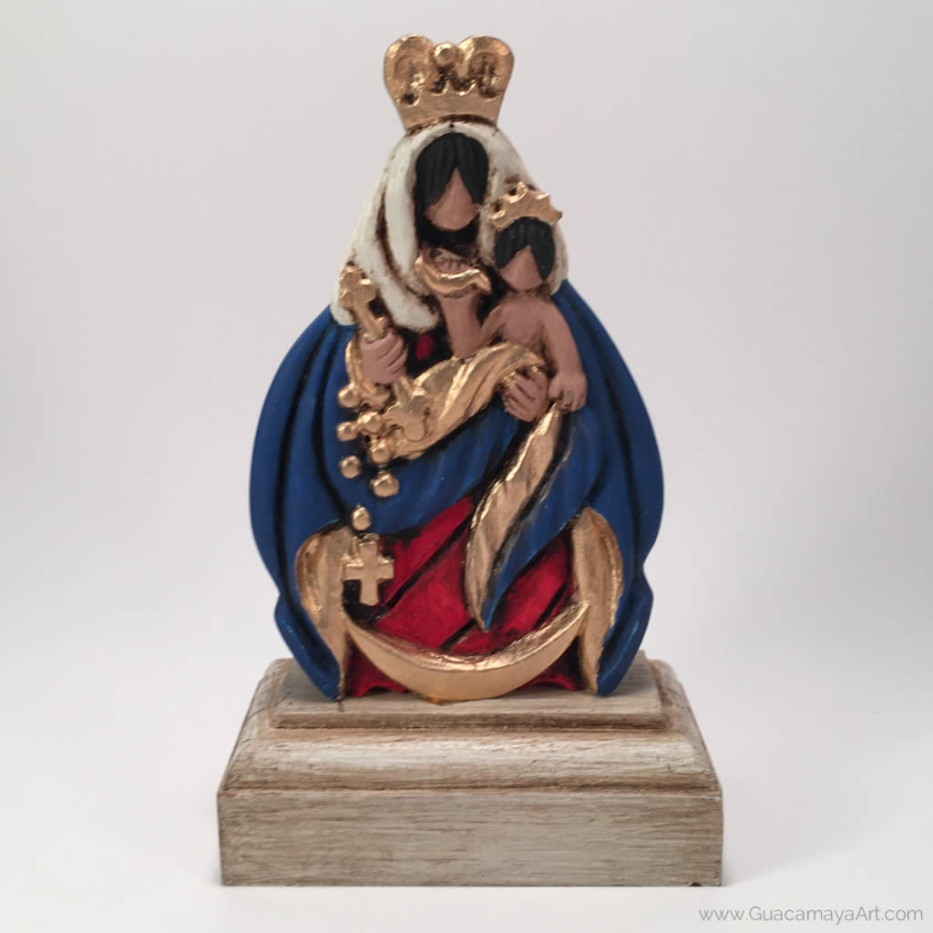Our Lady of the Rosary of Chiquinquirá Sculpture, Virgin Mary, Virgen Maria