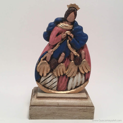 Our Lady of Undoer of Knots Sculpture, Virgin Mary, Virgen Maria, Maria Lea Cerdá