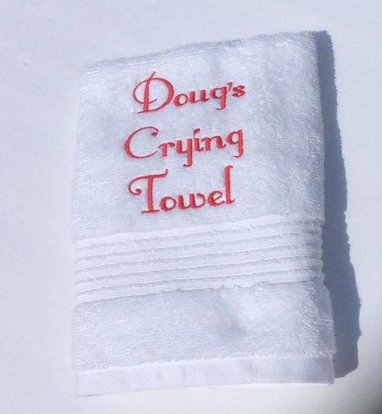 Personalized Wedding Crying Hand Towels