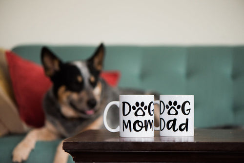 Dog Mom or Dog Dad Dishwasher safe Mug