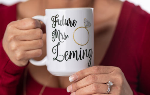 Personalized Future Mrs Engagement Gift Coffee Mug