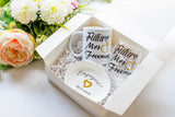 Engagement Gift set for Bride with Future Mrs Wine Glasses and Mug