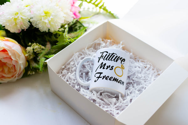 Personalized Future Mrs Engagement Coffee Mug