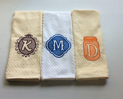 Personalized Embroidered Dish Towel