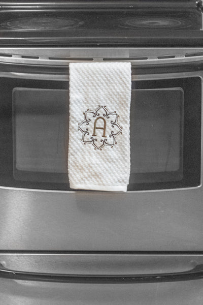 Monogram Personalized Embroidered Kitchen Towel and Decor