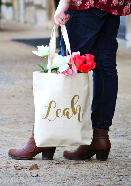 Canvas Tote Bag Personalized