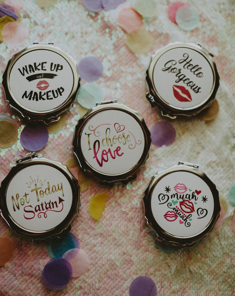 Barchelorette Party Favor Compact Mirror