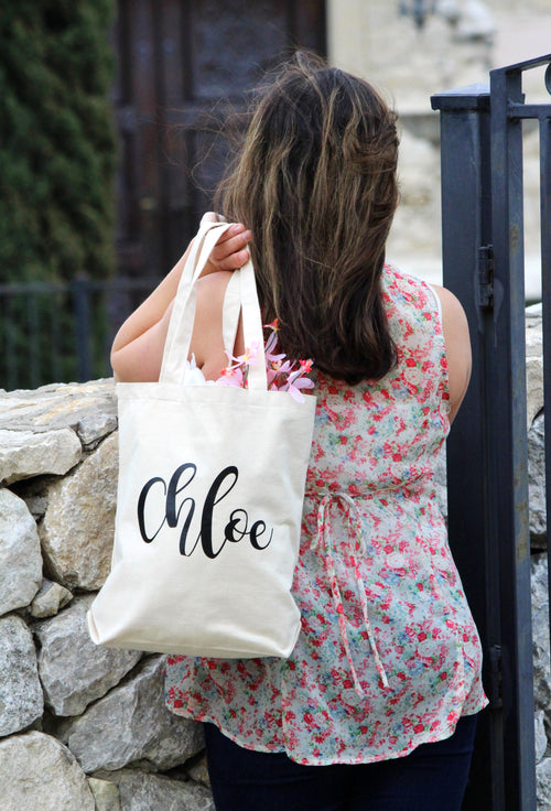 Personalized Bridesmaids tote bag