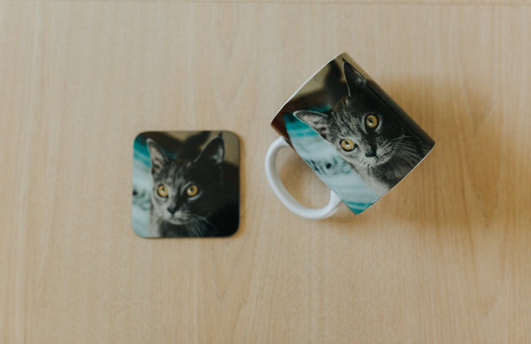 Pet Lover Mug and Coaster Gift set for Pet Memorial or Dog Loss