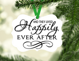 And they lived happily ever after wedding gift Ornament