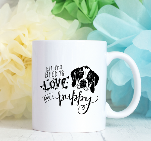All you need is love and a puppy Mug