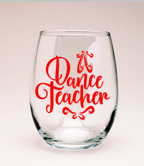 Dance Teacher Wine Glass