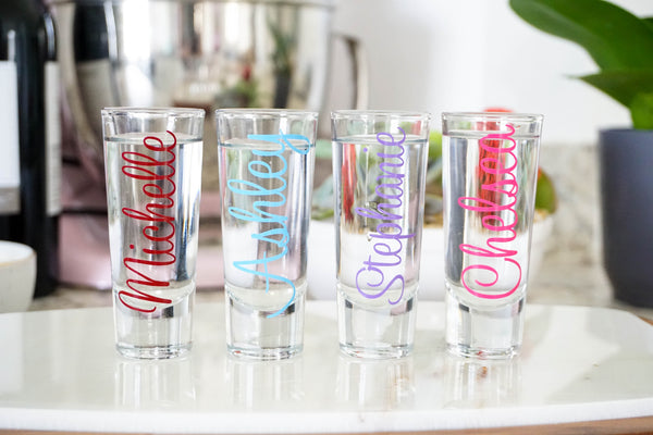Personalized Shot Glass - Bridesmaids Shot Glass - Bachelorette Party Gift - Bridal Party Glass