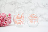 Mother of the Bride and Mother of the Groom Wine Glass