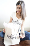 Bridesmaids Tote bag, Shirt and Wine Glass Proposal Gift Set