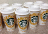 Personalized Maid of Honor Starbucks Travel Gift with Title, date and name