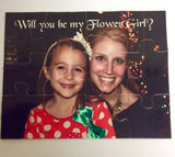 Personalized flower girl puzzle -,Will you be my ring bearer puzzle - Page boy Gift