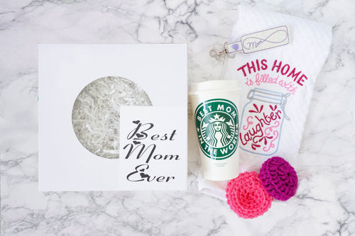 Personalized Best Mom Ever Gift Set Christmas or Mothers Day Gift
