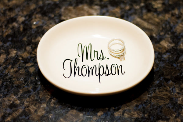 Personalized Mrs Ring Dish