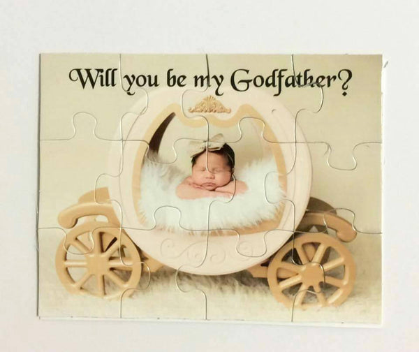 Will you be my God Mother Puzzle  - God Father Proposal Gift