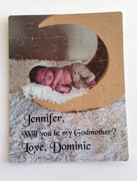 Personalized Will you be my God Mother Puzzle  - God Father Proposal Gift