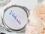 Personalized Compact Mirror for bridesmaids, Mom or Teenage Girls