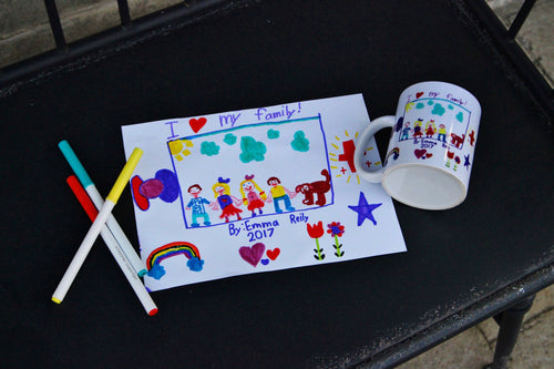 Personalized Kid's Painting Keepsake Coffee Mug