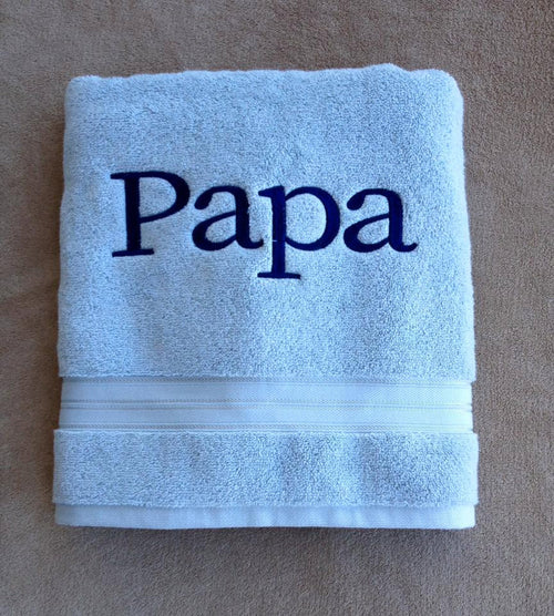 Embroidered Bathroom Towel and Decor with Name