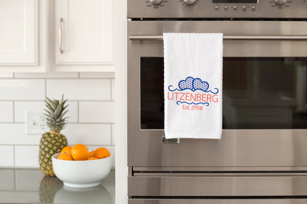 Home Decor Embroidered Kitchen Towel Wedding Gift for Couple