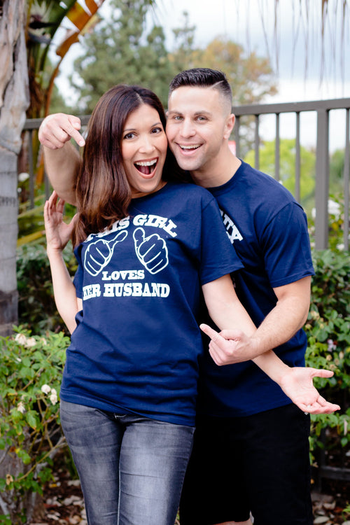 Husband and Wife Honeymoon Shirts set of 2