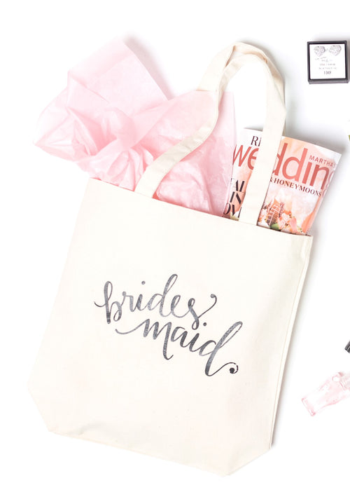 Tote Bag for Bridesmaids Proposal Gift