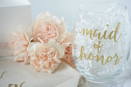 Custom Bridesmaids Wine Glass