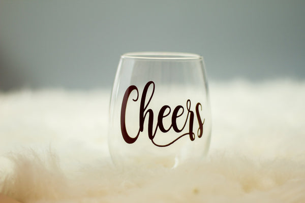 Cheers Wine Glass
