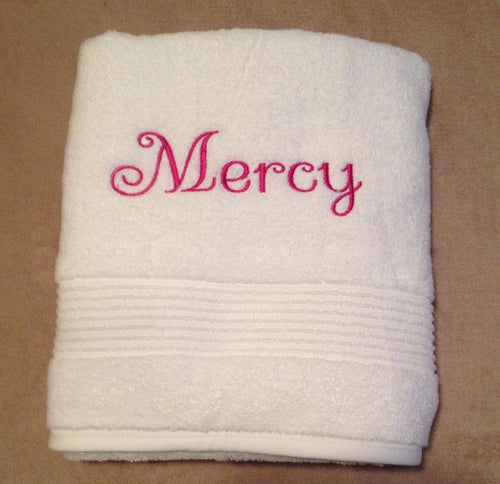 Personalized Monogrammed Bath/Beach Towels