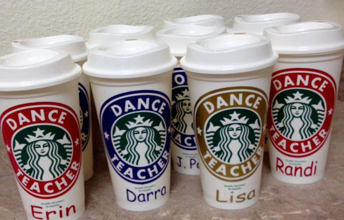 Personalized Dance Teacher Starbucks Cup