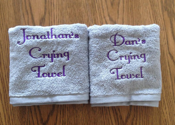 Personalized Wedding Crying Towels