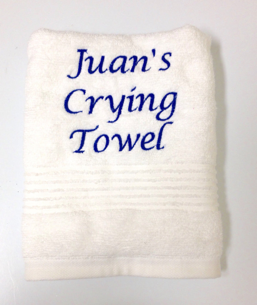 Personalized Wedding Crying Hand Towels Victorianeedleworks