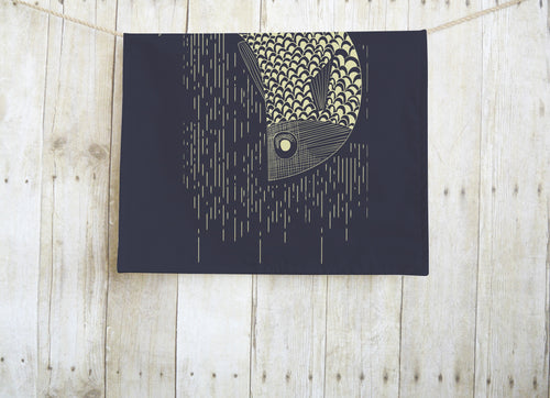 Fish Navy Dish Towel