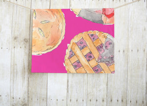 Pink Pie Tea Towel
