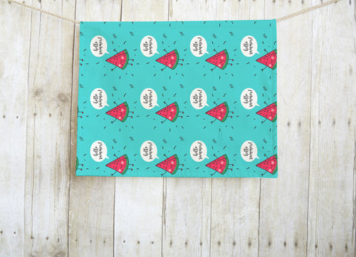 Hello Summer Watermelon Dish Towel