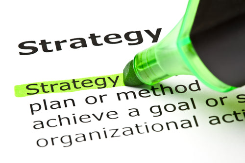 Strategy blog post on improving efficiency; this image shows a highlighter marking the word 'strategy'
