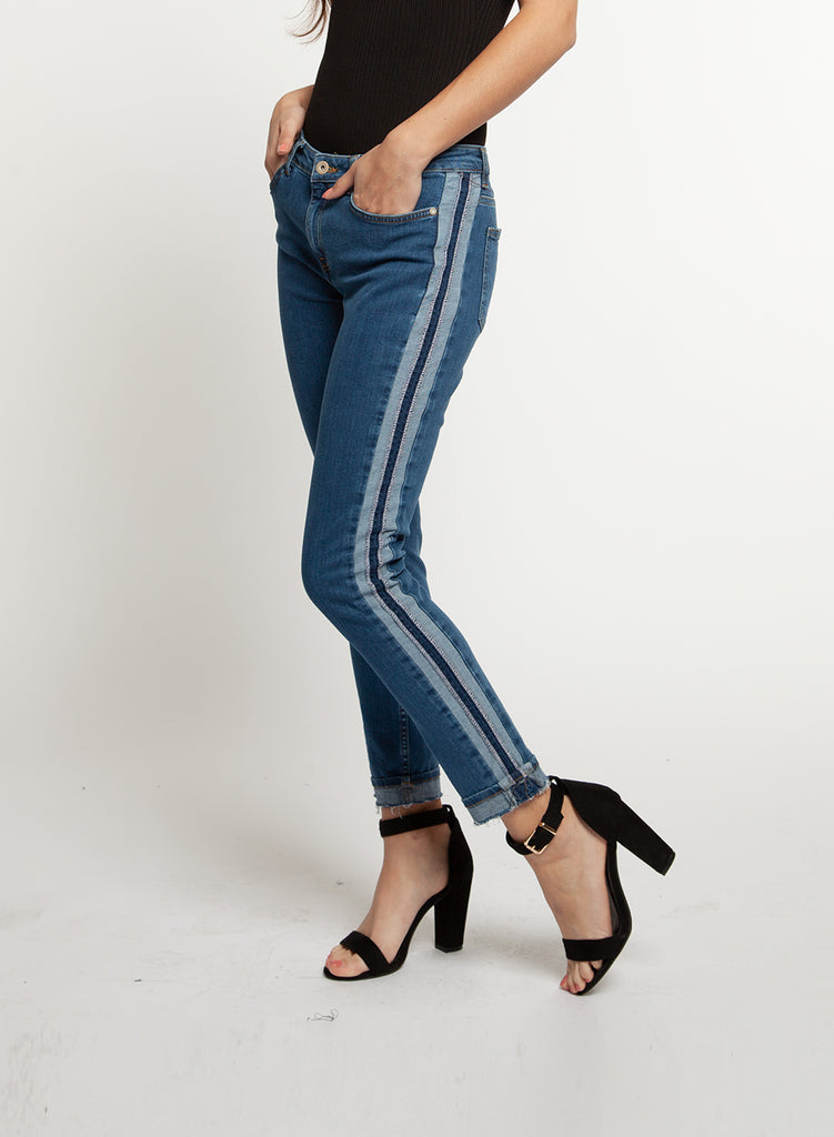 Denim Jogger Stripe Jean