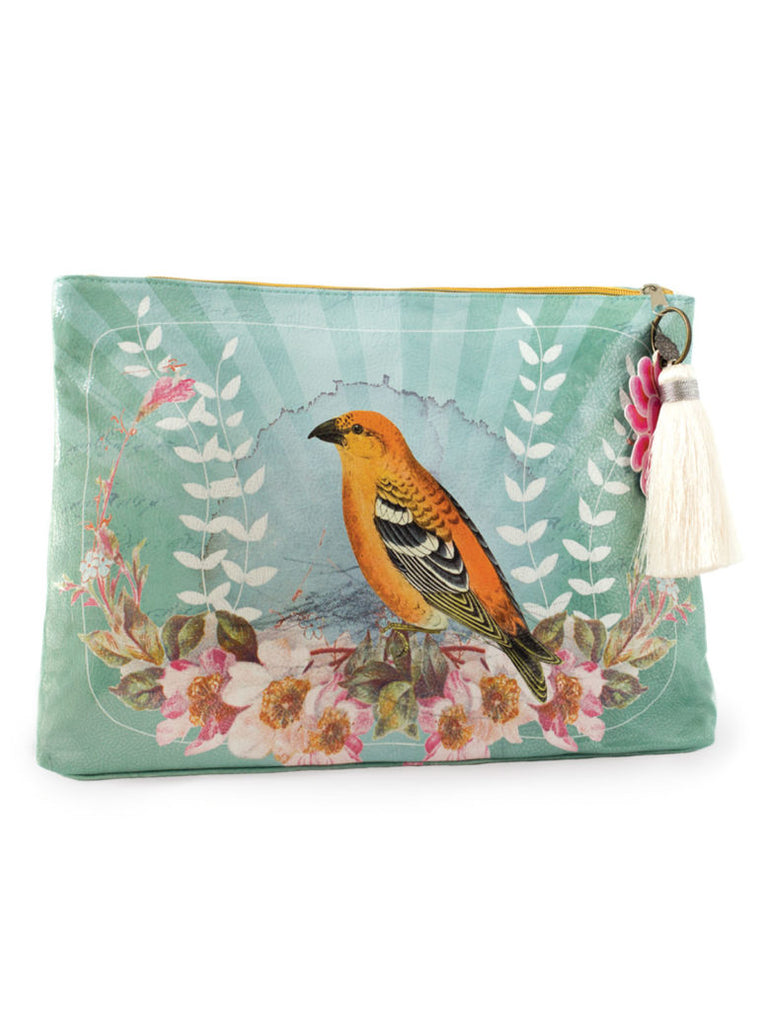 Golden Bird Accessory Pouch