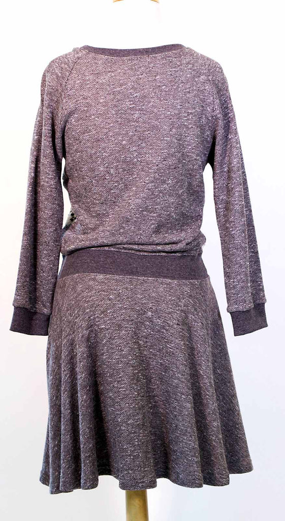 Vintage Lace Sweatshirt Dress