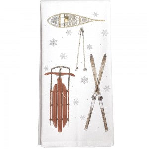 Winter Sports Tea Towel
