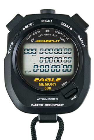 AE602M500DEC - Multi-mode, 500 Memory Advanced Timing Stopwatch