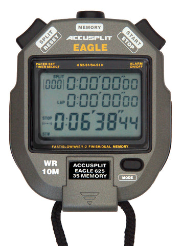 AE625M35 - 30 Memory Stopwatch with Large 3 line display