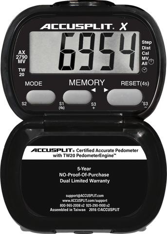 ACCUSPLIT AX2790MV - 3-YEAR CONTINUOUS TRACKER with 1000 Daily Memories