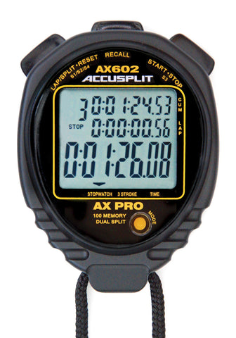 AX602 - PRO MEMORY Series Professional Stopwatch-100 Memory Advanced Timing Stopwatch with Stroke/Stride Rate Computation