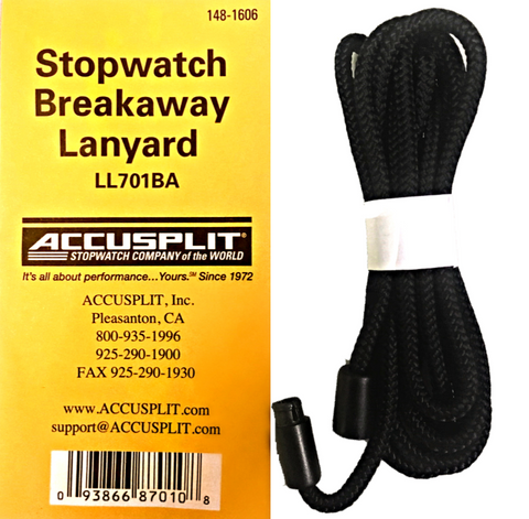 LL701BA Stopwatch Quick-Disconnect Breakaway Lanyard
